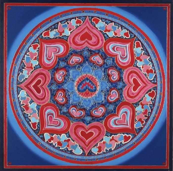 Красно-синяя мандала для любви