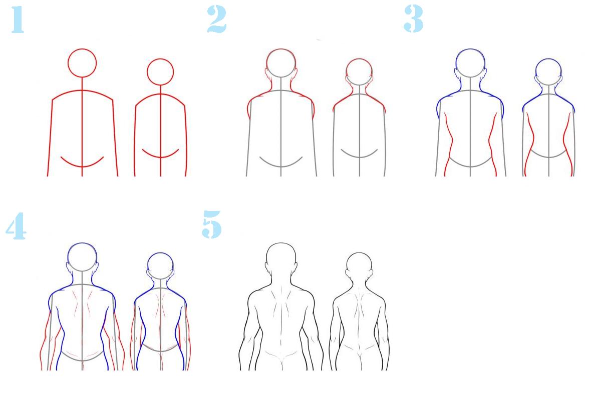 Фигура человека со спины