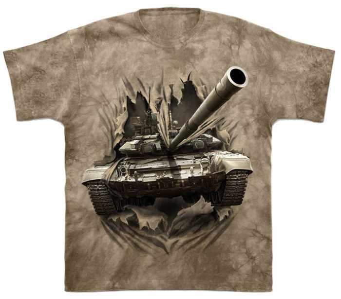 танк на футболке
