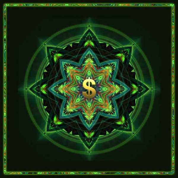 Зеленая мандала для привлечения денег