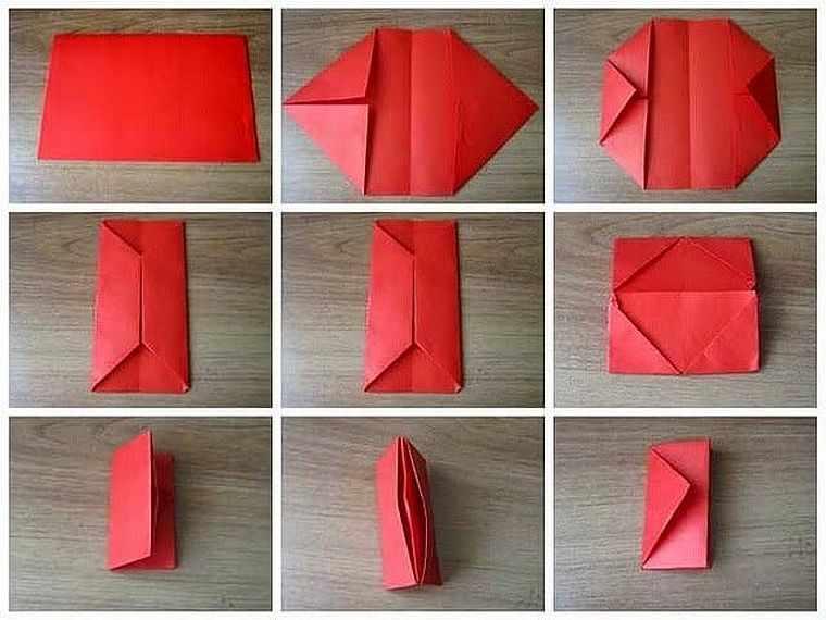 как сделать кошелек из бумаги