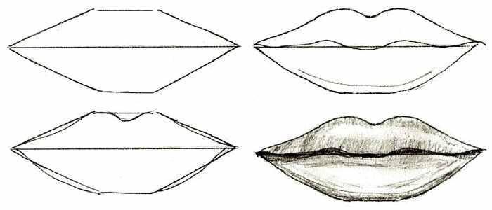 Прорисовка губ