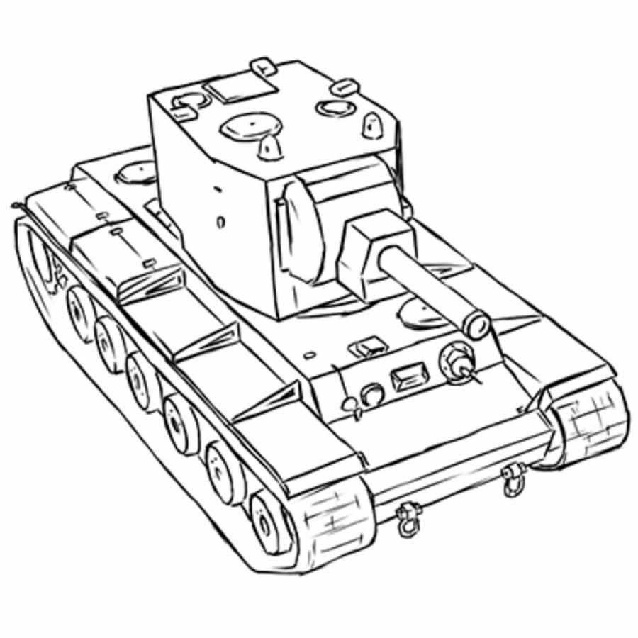 КВ-2 карандашом