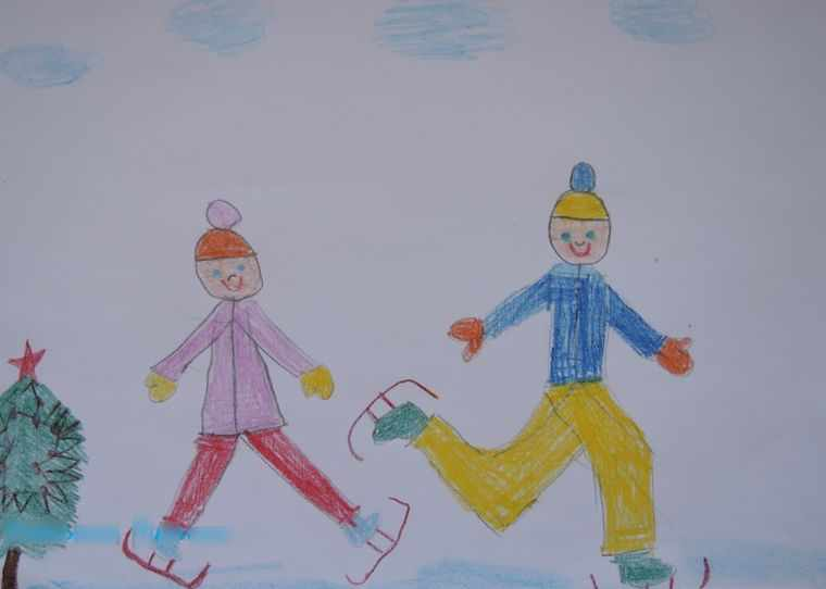ребята на коньках