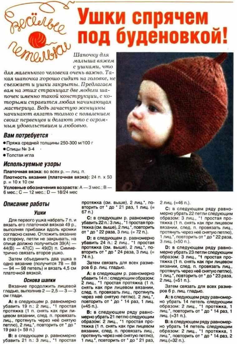 зимняя шапочка для новорожденного