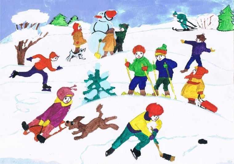 забавы в зимнее время года