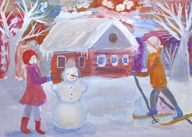 рисунок зимы